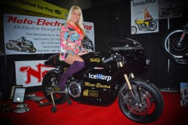 Charlotte modeling agency staffing Emme Girls at Progressive Motorcycle Show